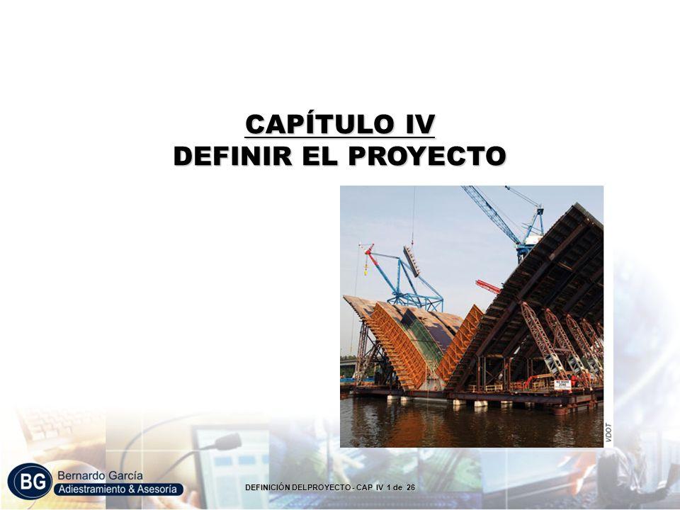 CAPÍTULO IV DEFINIR EL PROYECTO