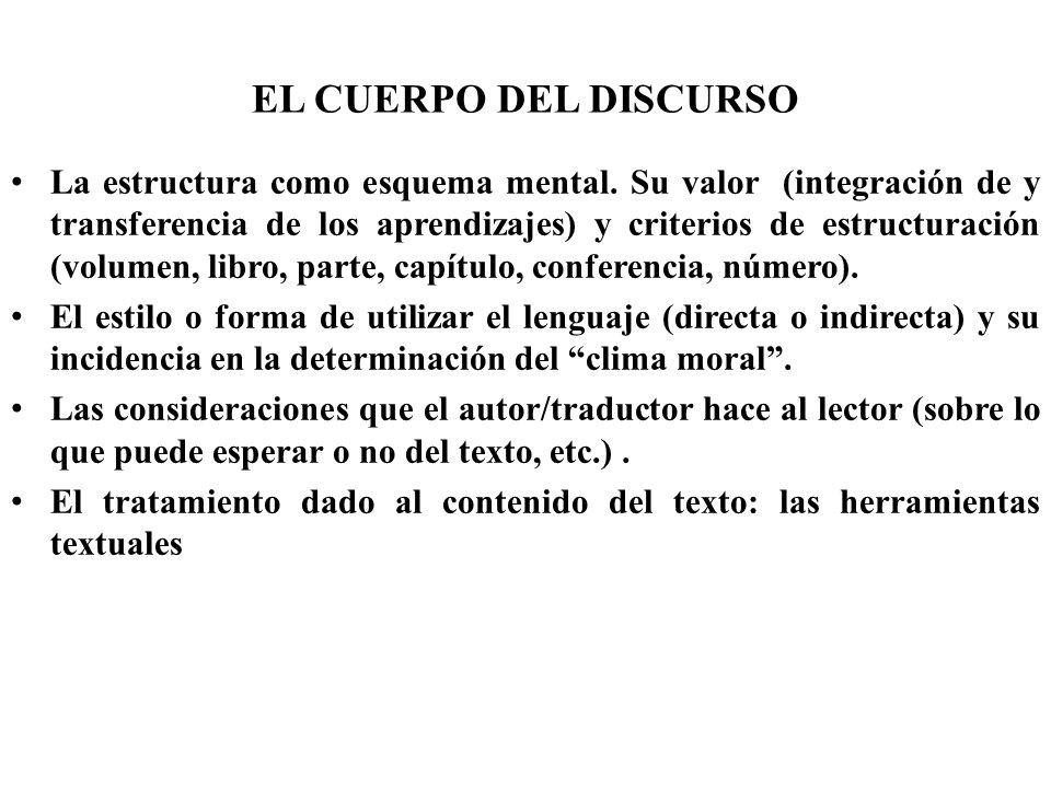 EL CUERPO DEL DISCURSO