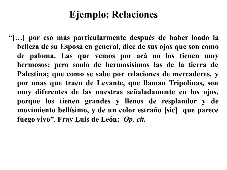 Ejemplo: Relaciones