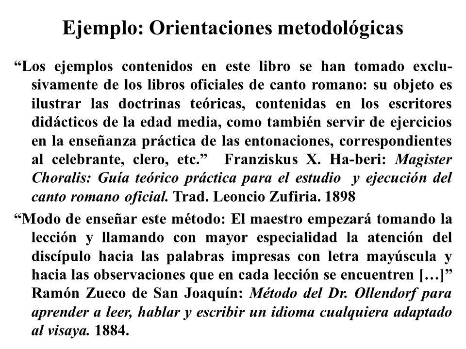 Ejemplo: Orientaciones metodológicas