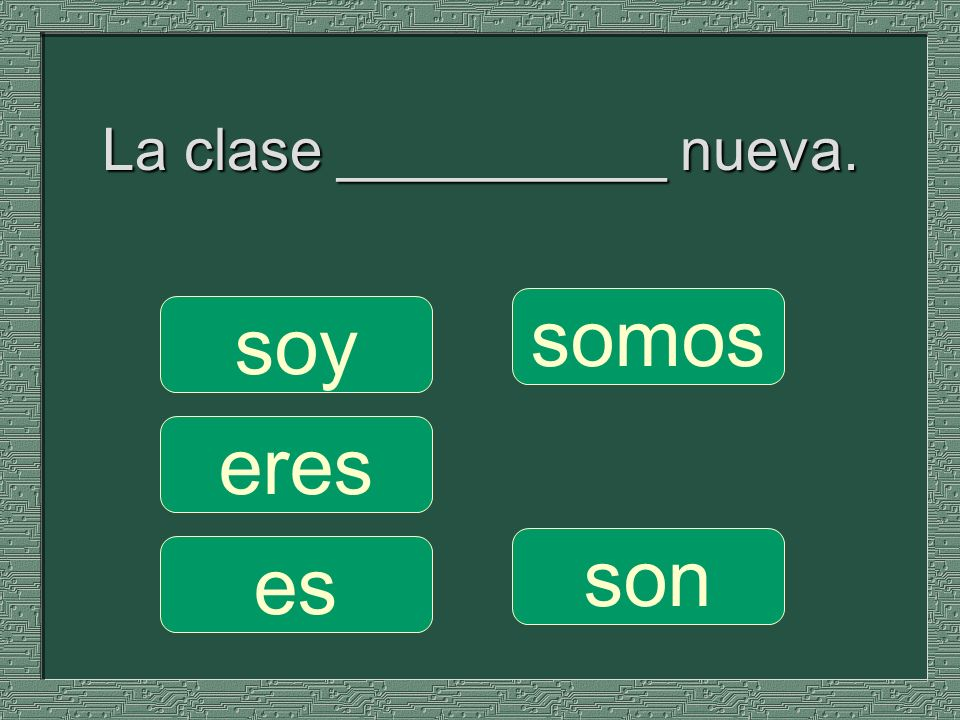 La clase __________ nueva.