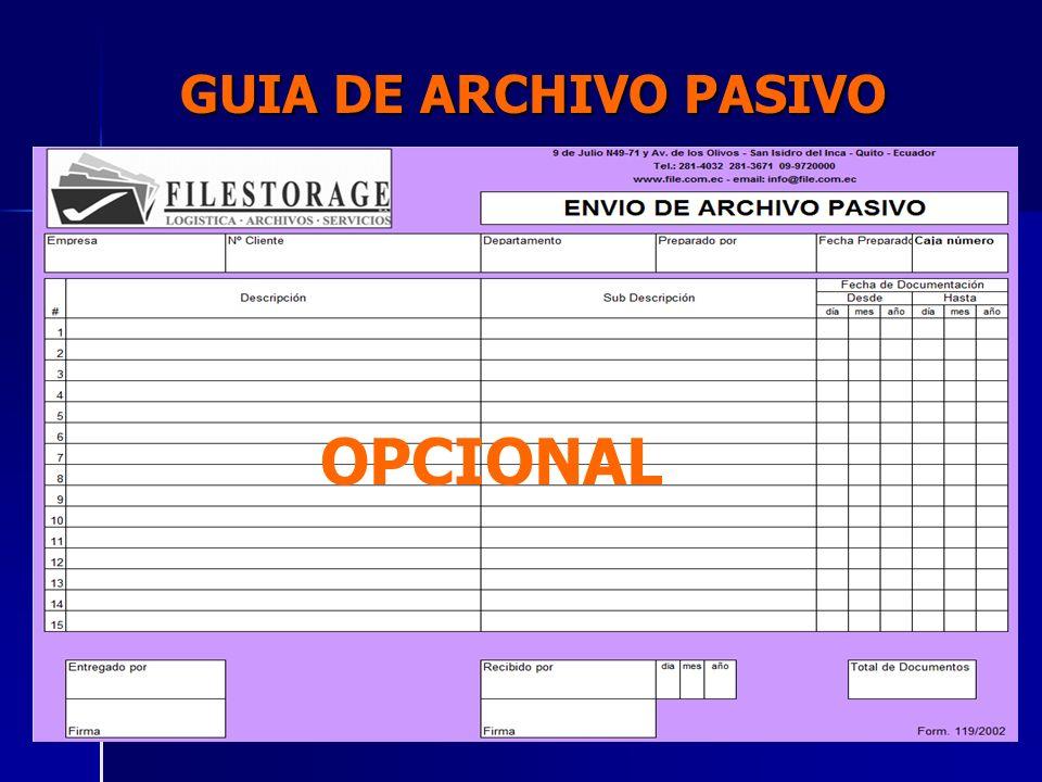 GUIA DE ARCHIVO PASIVO OPCIONAL