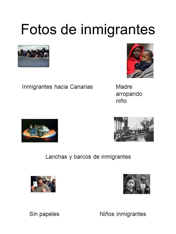 Fotos de inmigrantes Inmigrantes hacia Canarias Madre arropando niño