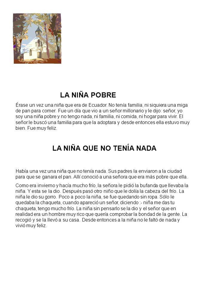LA NIÑA QUE NO TENÍA NADA