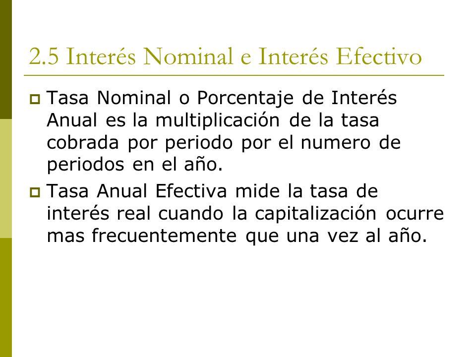 2.5 Interés Nominal e Interés Efectivo