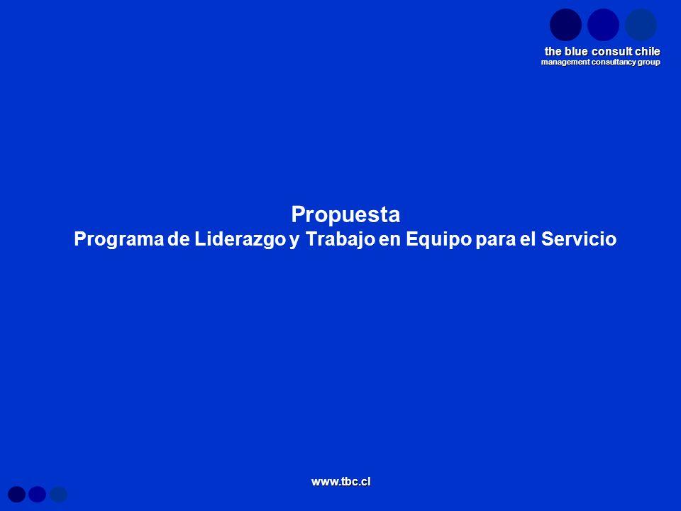 Propuesta Programa de Liderazgo y Trabajo en Equipo para el Servicio