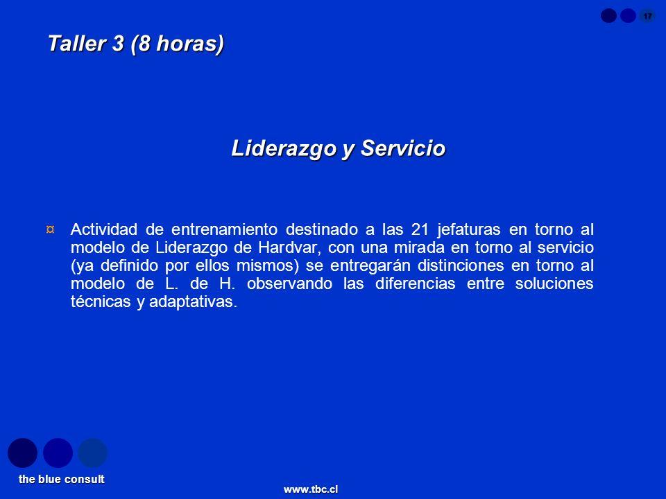 Taller 3 (8 horas) Liderazgo y Servicio