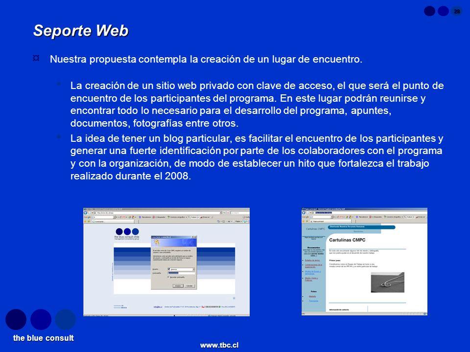 Seporte Web Nuestra propuesta contempla la creación de un lugar de encuentro.