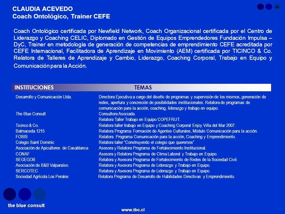 Coach Ontológico, Trainer CEFE