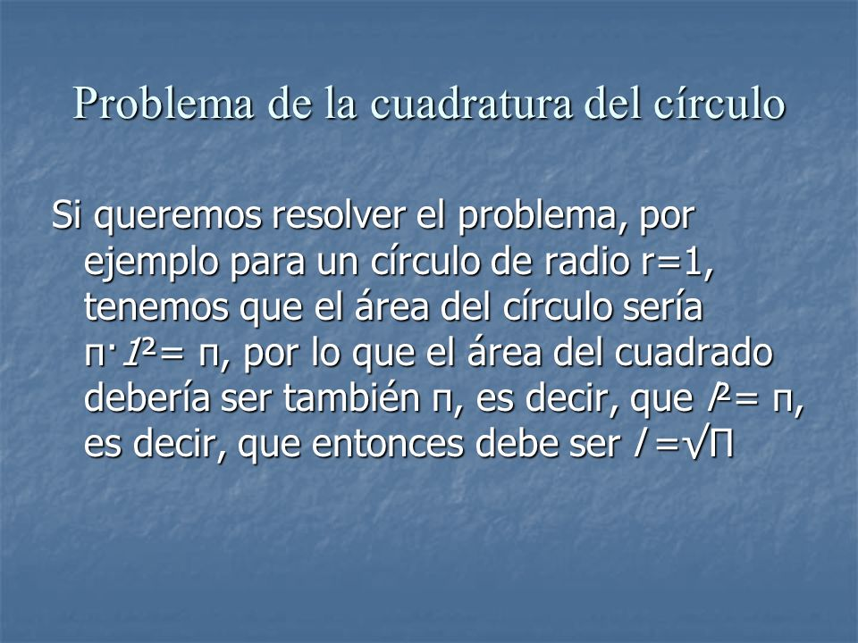 Problema de la cuadratura del círculo