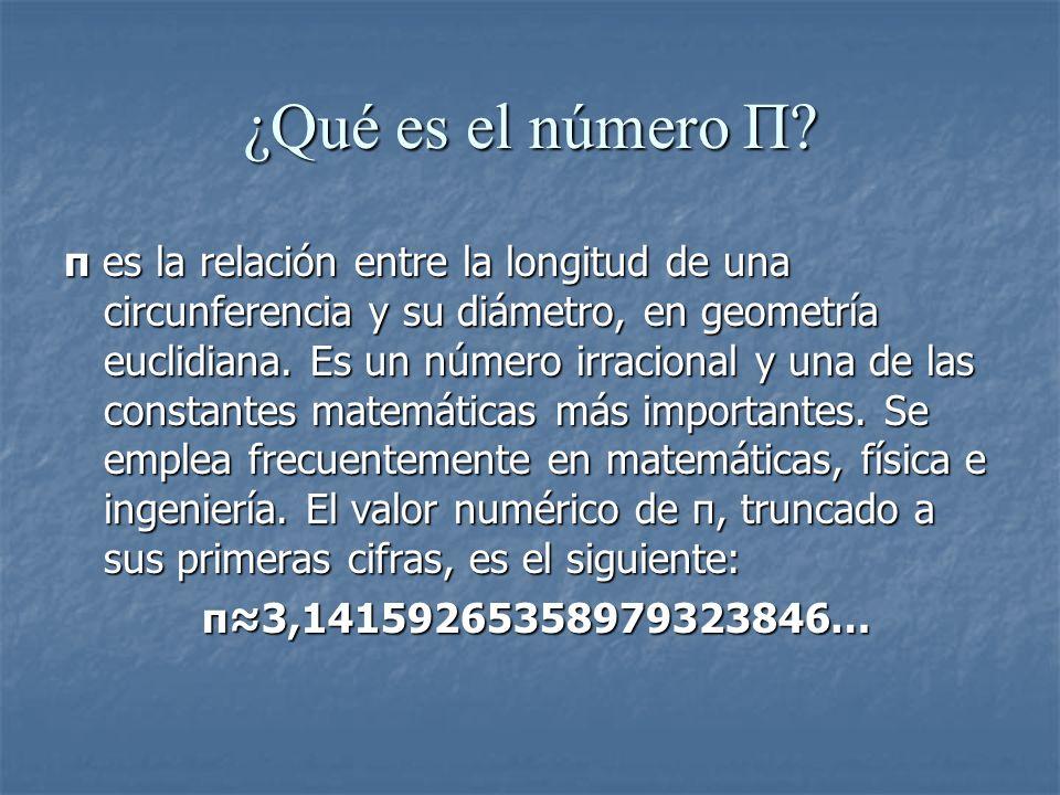 ¿Qué es el número Π