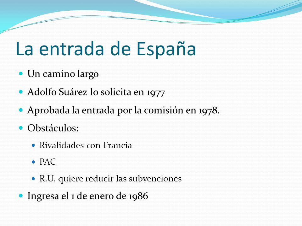 La entrada de España Un camino largo Adolfo Suárez lo solicita en 1977