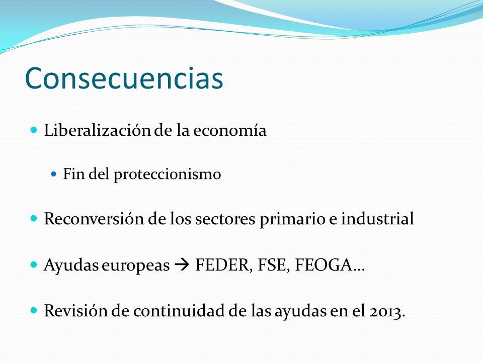 Consecuencias Liberalización de la economía
