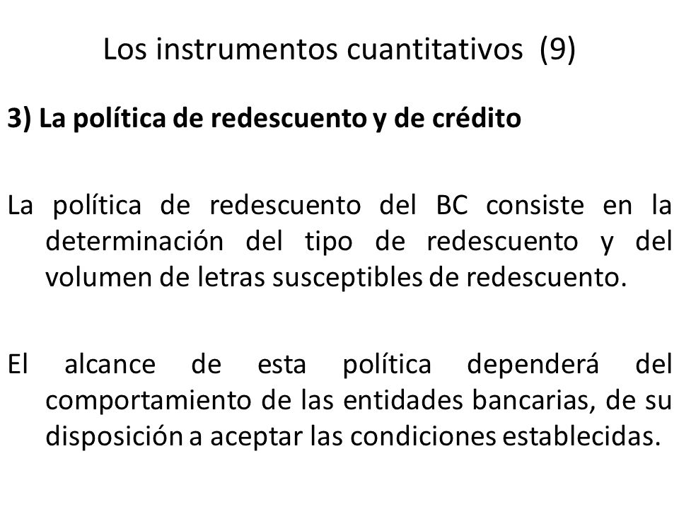 Los instrumentos cuantitativos (9)