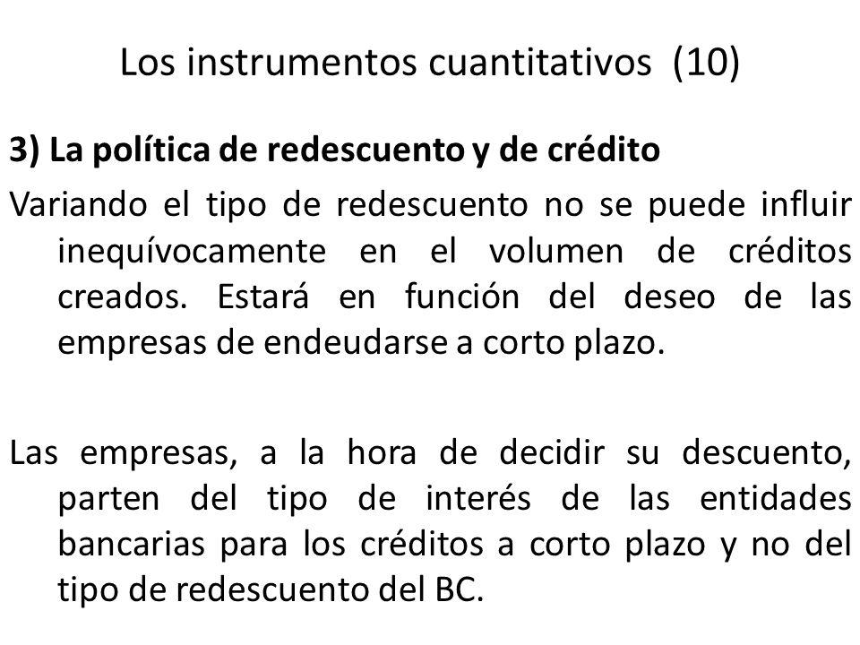 Los instrumentos cuantitativos (10)