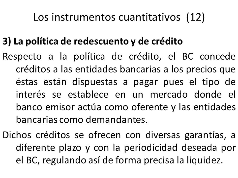 Los instrumentos cuantitativos (12)