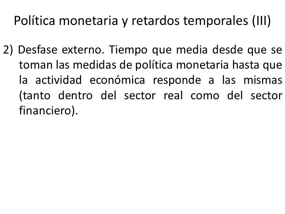 Política monetaria y retardos temporales (III)