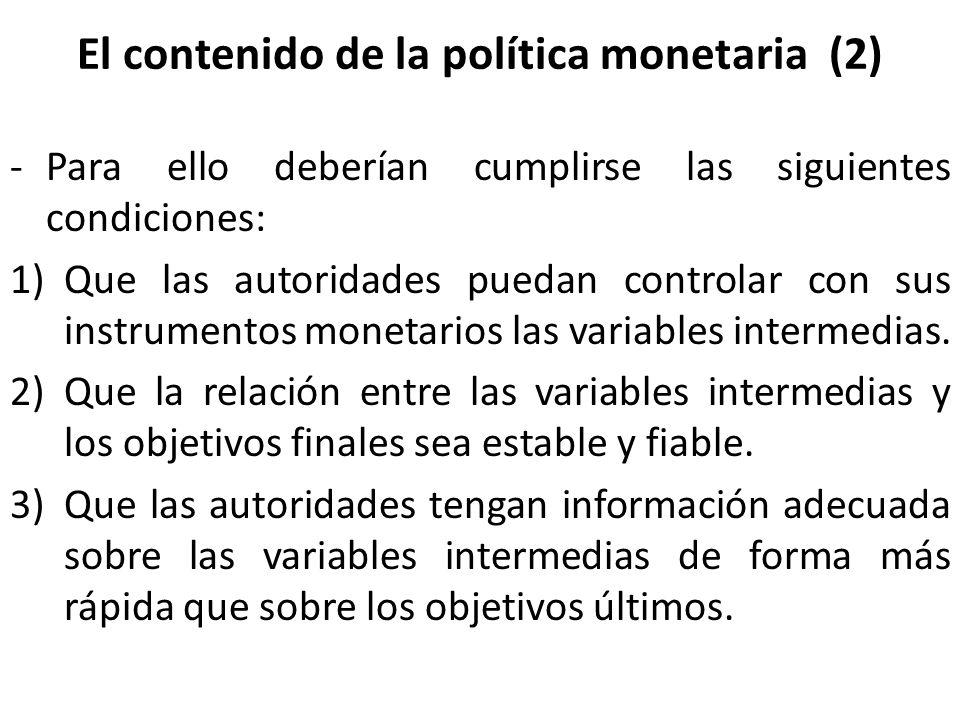El contenido de la política monetaria (2)