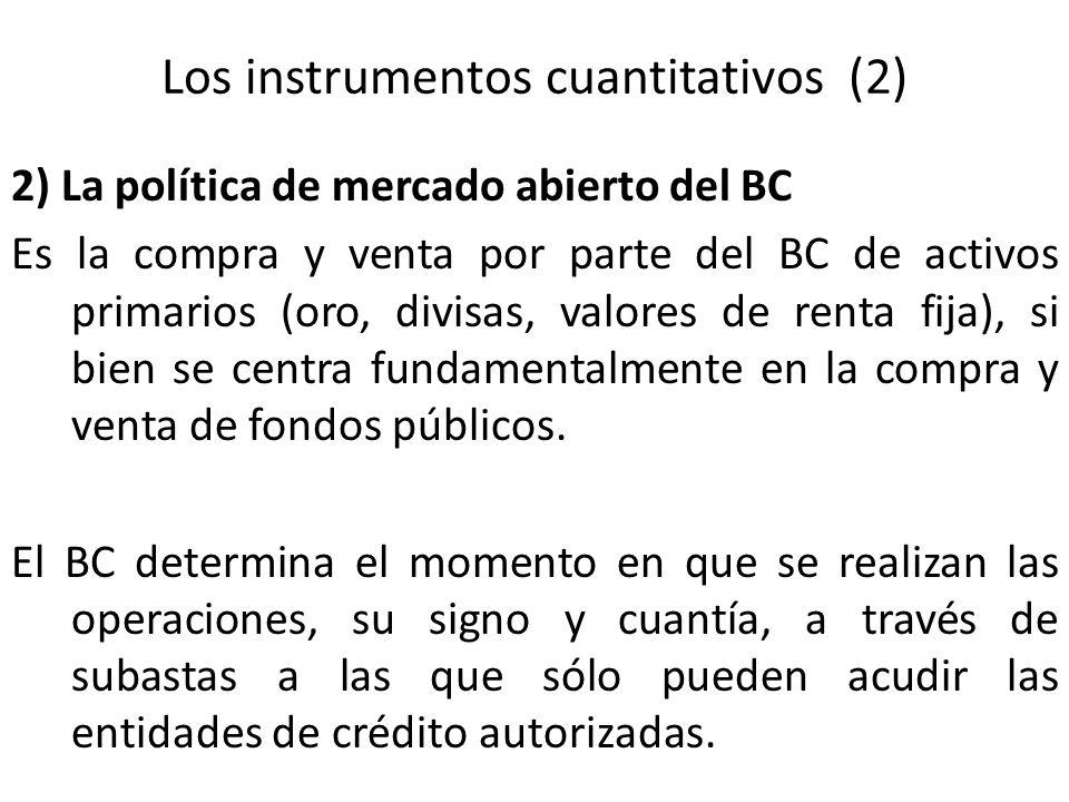 Los instrumentos cuantitativos (2)