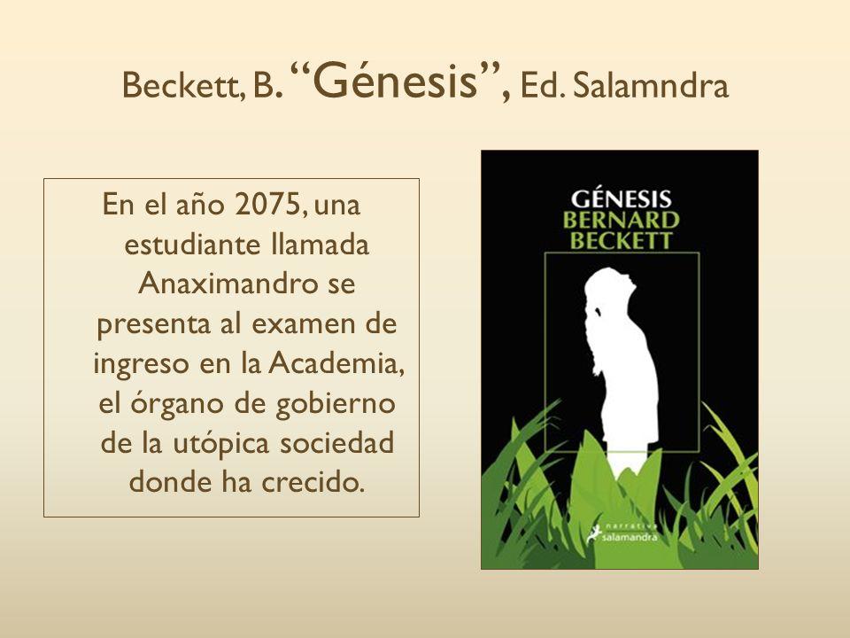 Beckett, B. Génesis , Ed. Salamndra