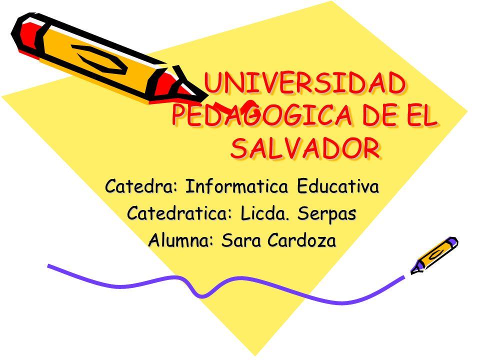 UNIVERSIDAD PEDAGOGICA DE EL SALVADOR