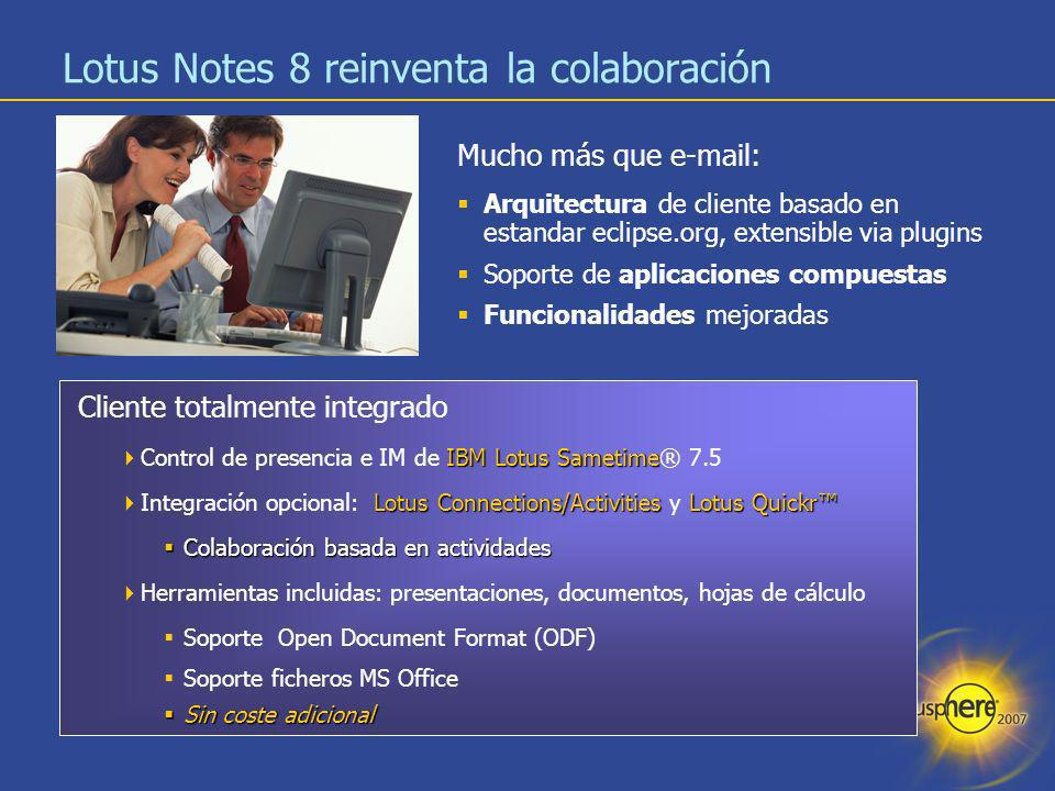Lotus Notes 8 reinventa la colaboración
