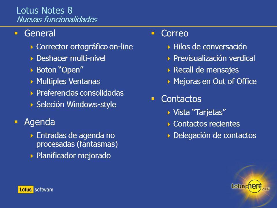 Lotus Notes 8 Nuevas funcionalidades
