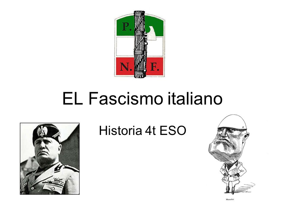 EL Fascismo italiano Historia 4t ESO