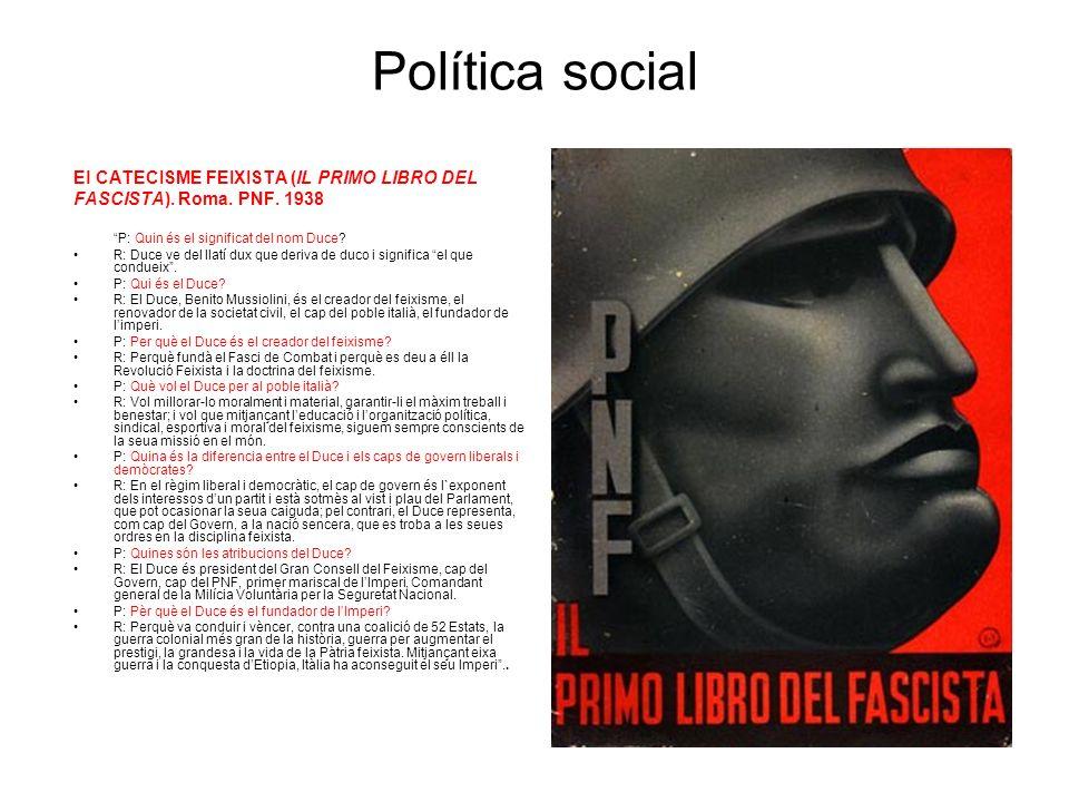 Política social El CATECISME FEIXISTA (IL PRIMO LIBRO DEL