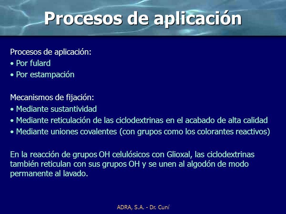 Procesos de aplicación