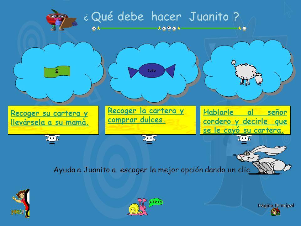 ¿ Qué debe hacer Juanito