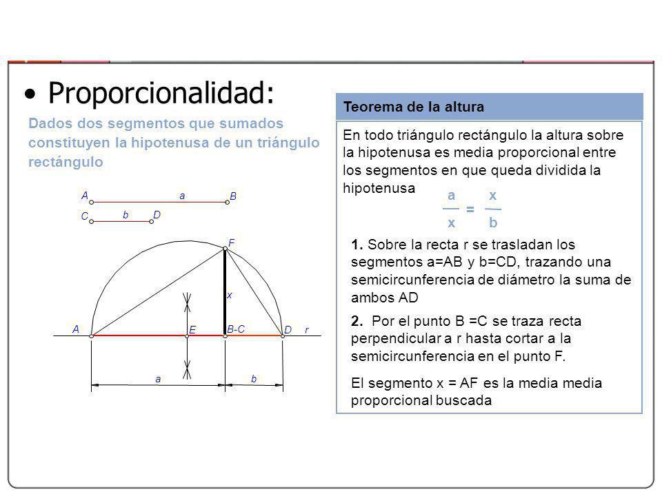 Proporcionalidad: Teorema de la altura