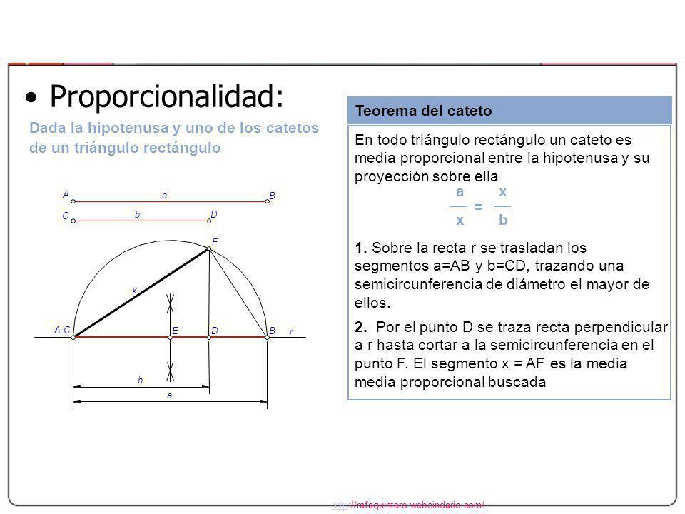 Proporcionalidad: Teorema del cateto