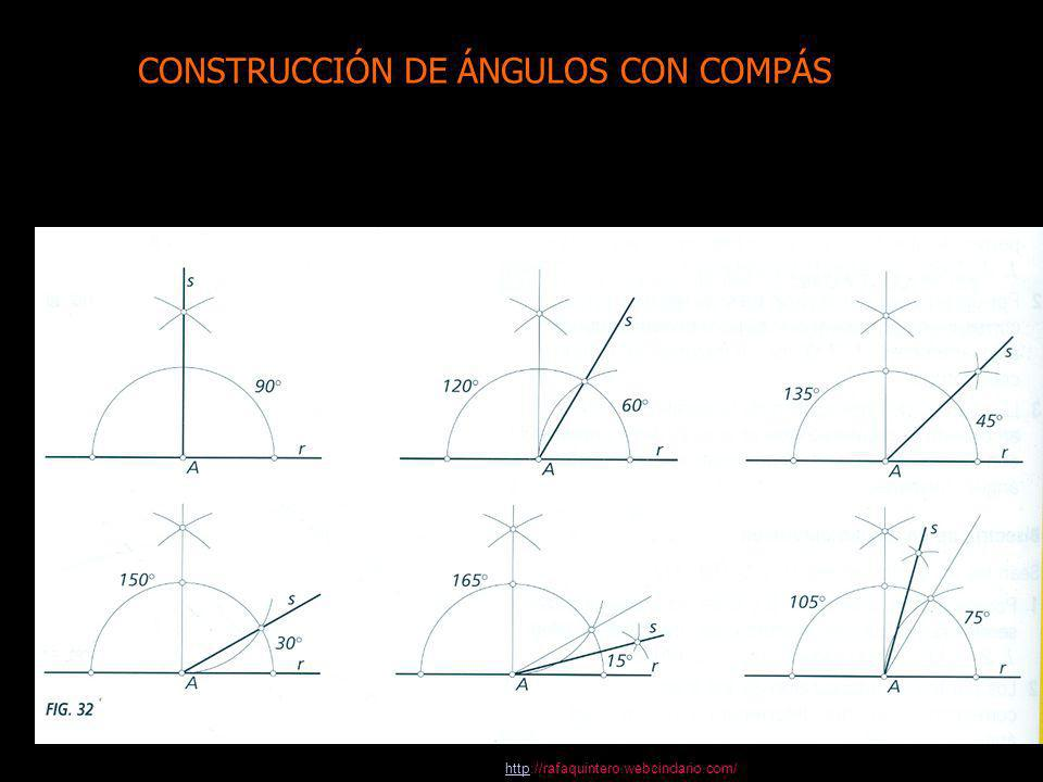 Construcción de ángulos con el compás