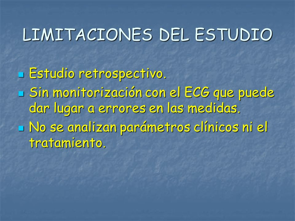 LIMITACIONES DEL ESTUDIO