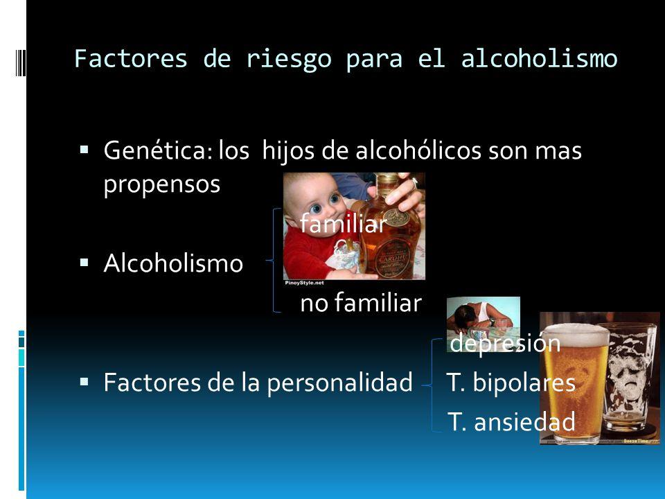 Factores de riesgo para el alcoholismo