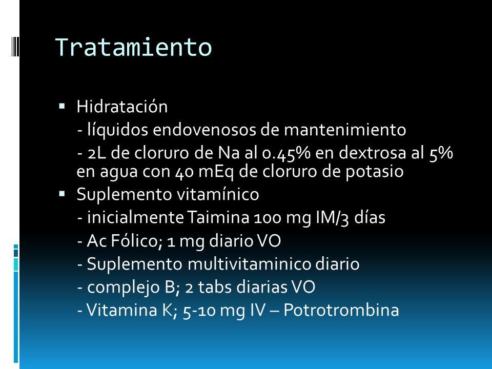 Tratamiento Hidratación - líquidos endovenosos de mantenimiento