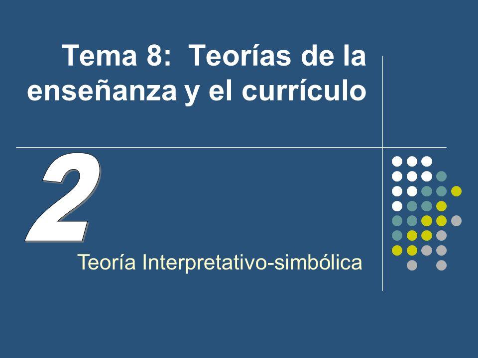 Tema 8: Teorías de la enseñanza y el currículo