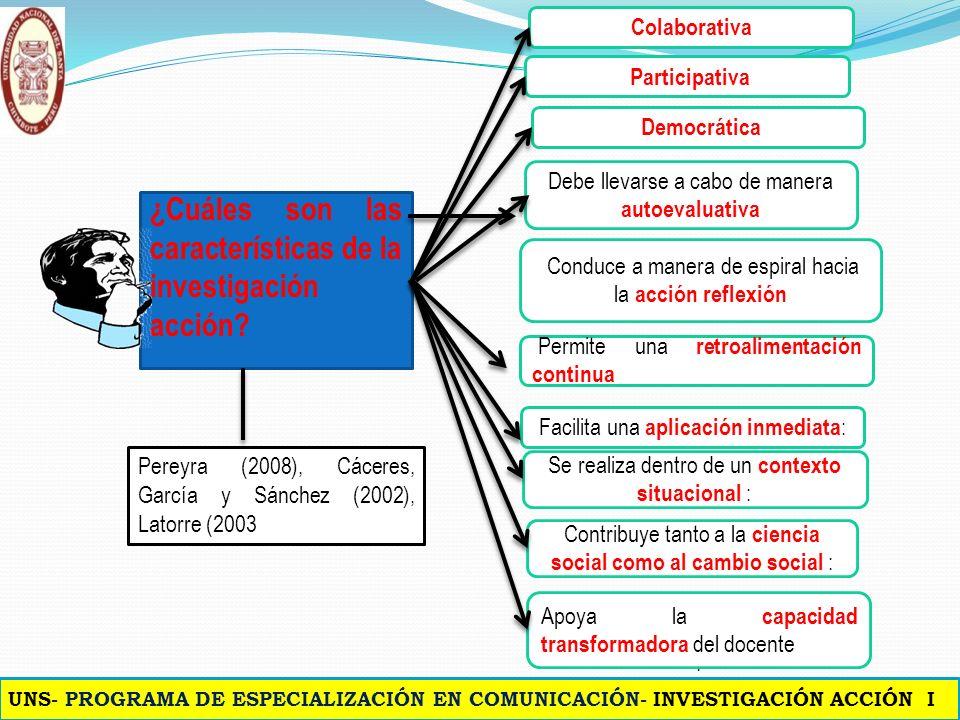 ¿Cuáles son las características de la investigación acción