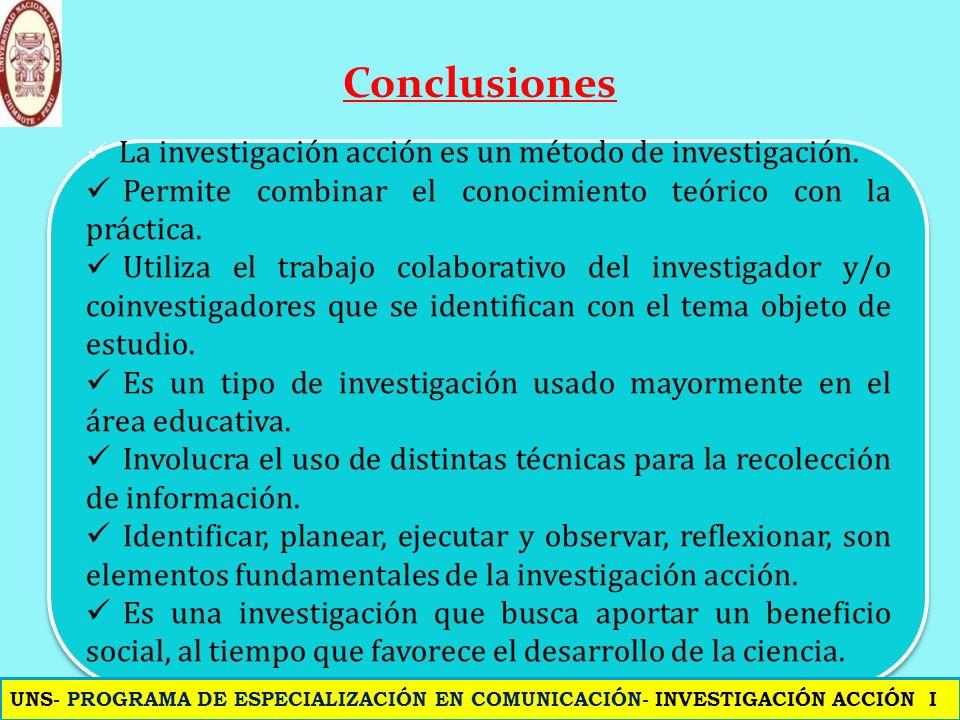 Conclusión Conclusiones