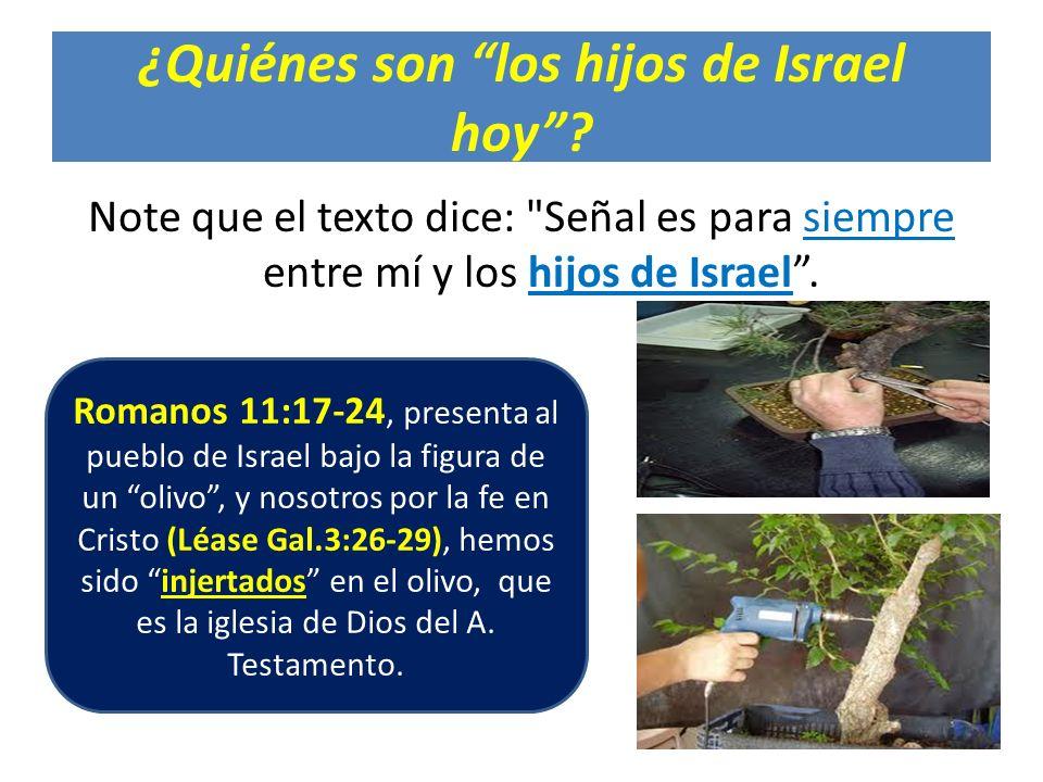 ¿Quiénes son los hijos de Israel hoy