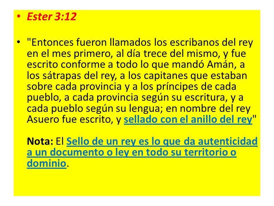Ester 3:12