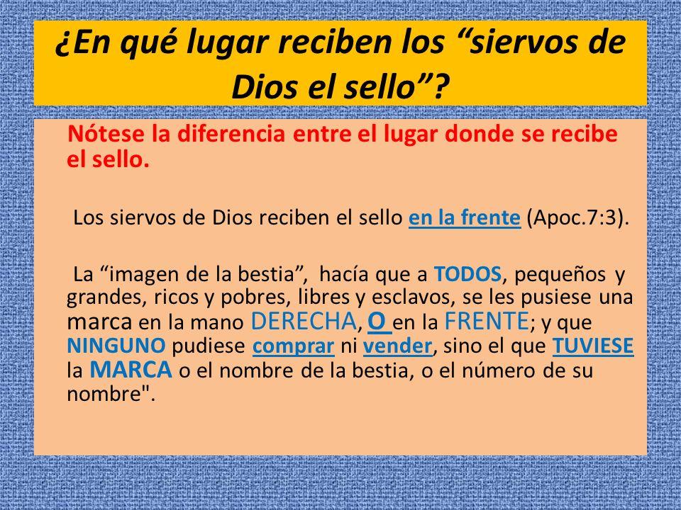 ¿En qué lugar reciben los siervos de Dios el sello