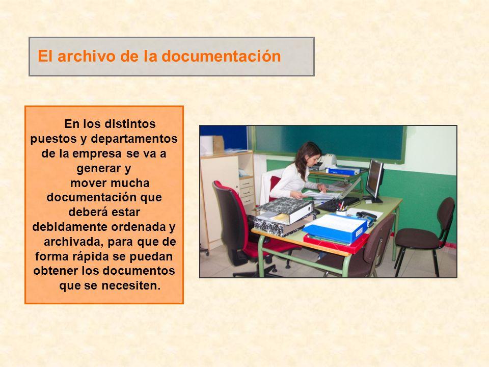 El archivo de la documentación