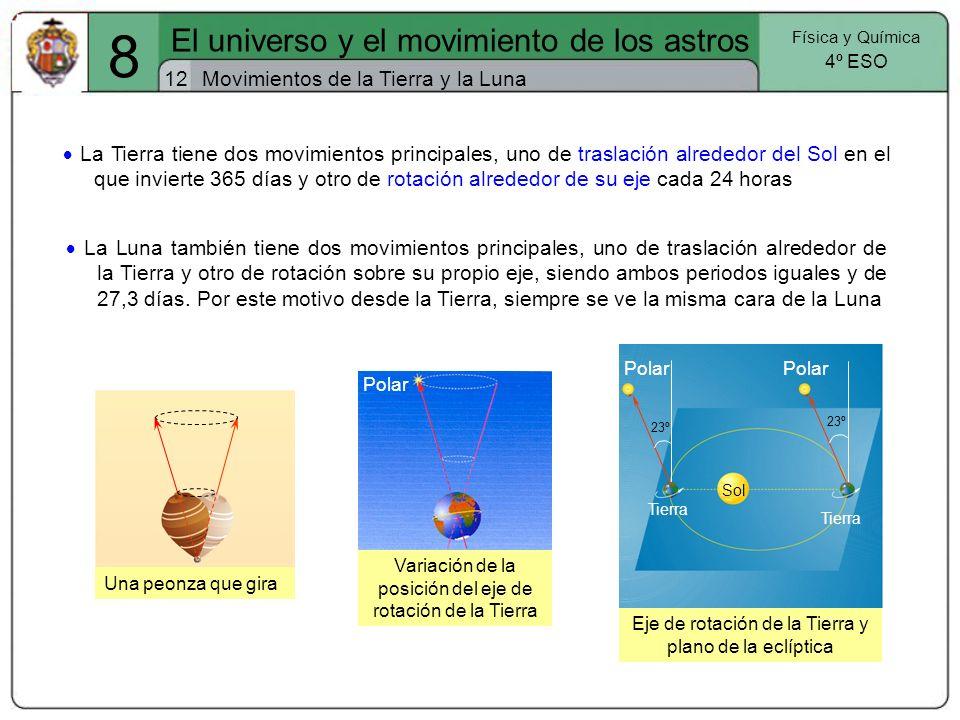 8 El universo y el movimiento de los astros 12