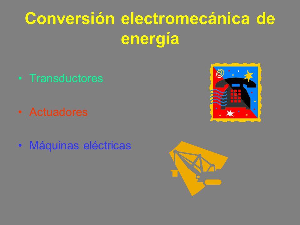 Conversión electromecánica de energía