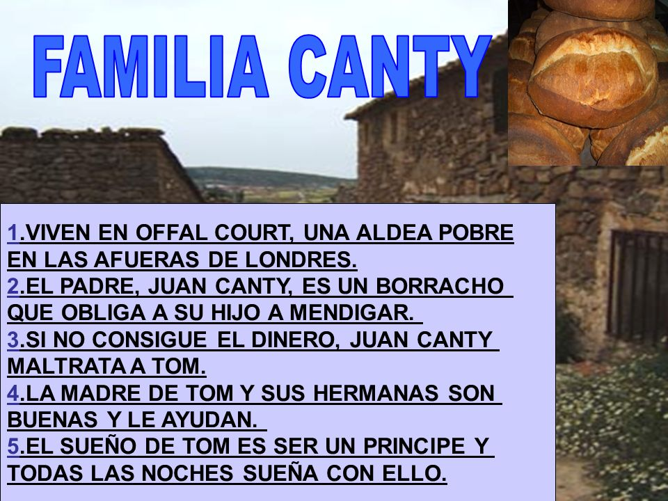 FAMILIA CANTY 1.VIVEN EN OFFAL COURT, UNA ALDEA POBRE