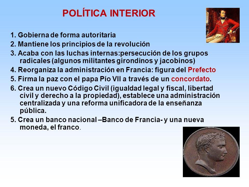 POLÍTICA INTERIOR 1. Gobierna de forma autoritaria
