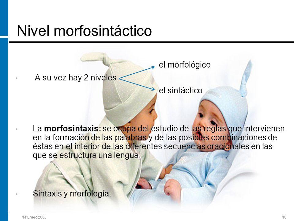 Nivel morfosintáctico