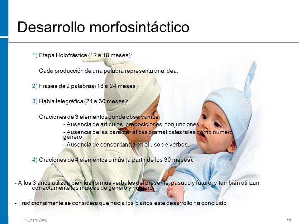 Desarrollo morfosintáctico